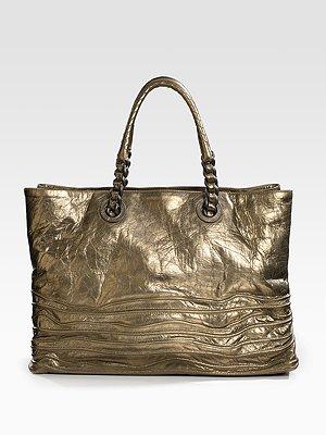 bottega-veneta-metallic-leather-shopper-bag